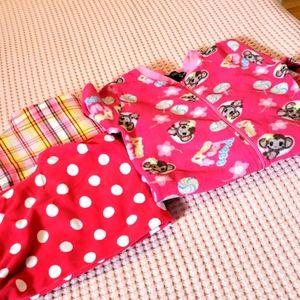 Girls onesie and two pajama pant.
